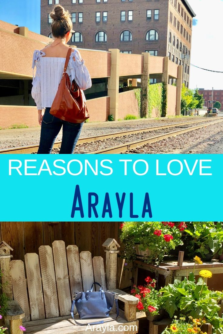 The reasons to love Arayla are reasons that can only be felt by owning an Arayla bag but that doesn't mean you can't learn a bit about them before you buy.