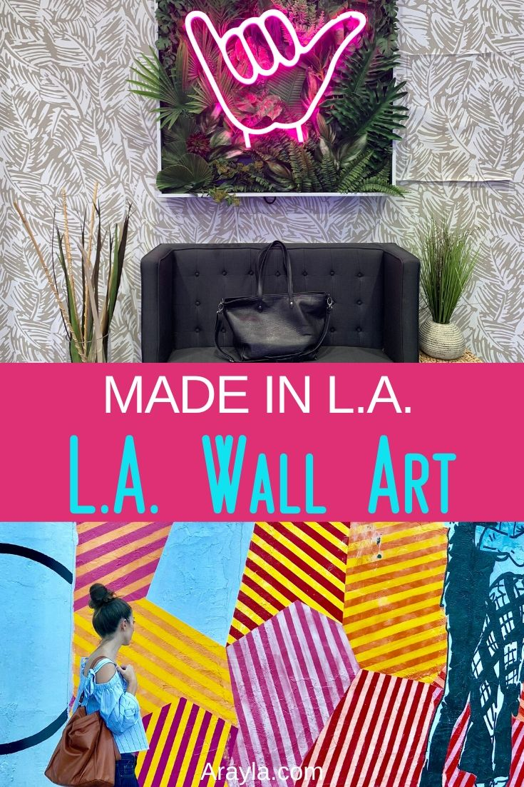 The LA walls showcase more about LA than you may think and that art helps inspire us to complete our own art pieces in the forms of beautiful, luxury handbags.