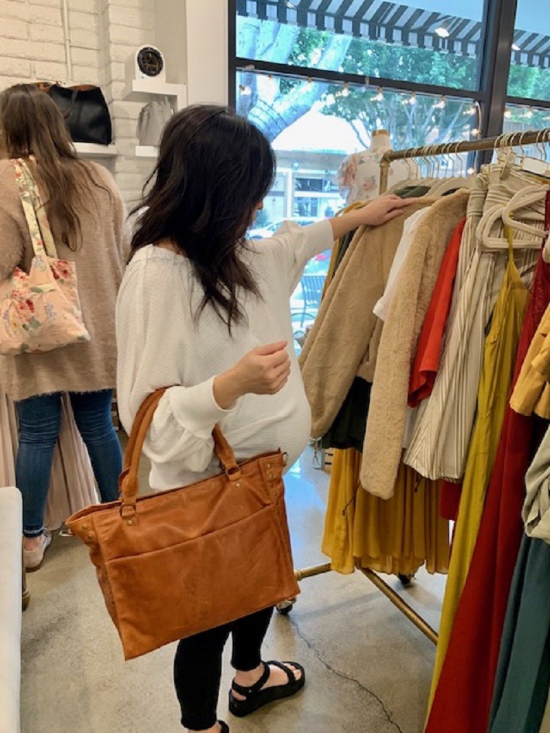 Woman Shopping with a Mama Bag